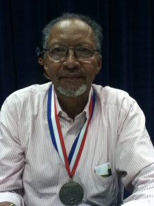 The really amazing and nice Walter Dean Myers, author of many, many books for children and teens. See that medal he's wearing? He's the Ambassador for Young People's Literature!