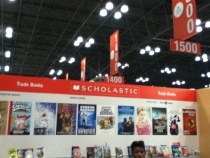 A Scholastic booth--one of several, I recall.