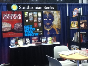 The Smithsonian Books booth.