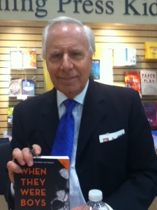 "Larry Kane, famed journalist and broadcaster. This is him with his new book, ""When They Were Boys,"" an account of the Beatles' rise to fame. Kane was the only American journalist with the Beatles at every stop on their '64 and '65 tours of America, and is referred to as the ""dean of Philadelphia. . .news anchors."