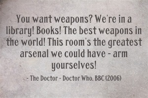 Dr. Who Quote--Books